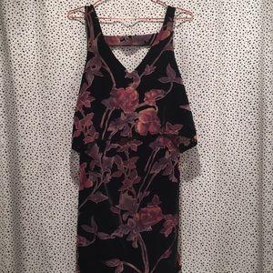 Everly Stitchfix S velvet floral dress burnout